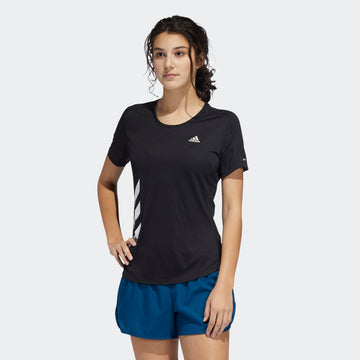 Adidas Run It 3-Stripes Fast FR8400 Top Short Sleeve Training (W)