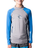Rip Curl Boys Wave L/Sl Uv Tee WLU8AJ-3233 Rash Guard Long Sleeve (Yb)