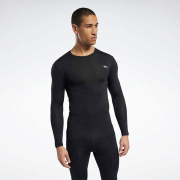 REEBOK WOR COMPR LO SLEEVE SOLID FP9105 COMPRESSION TOP LONG SLEEVE (M)
