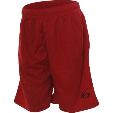 K6 Kids Red Shorts Football Uniform