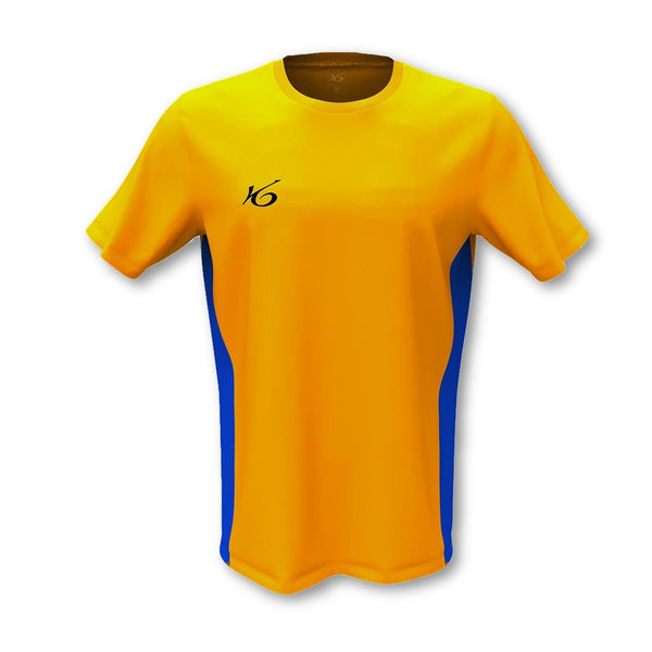 K6 Yellow Jersey Short Sleeve Football Uniform.