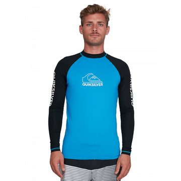 QUIKSILVER ONTOURLS EQYWR03216-BNR0 RASH GUARD LONG SLEEVE (M)