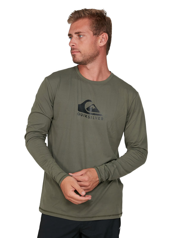 QUIKSILVER SOLIDSTRKLS EQYWR03247-GZH0 RASH GUARD LONG SLEEVE (M)