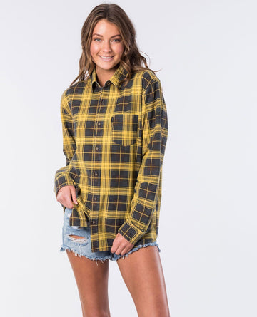 Rip Curl Drake Check GSHGW1-9769 Shirt Long Sleeve (W)