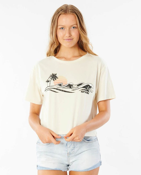 RIP CURL LEI CROP GTEJU9-3021 T-SHIRT SHORT SLEEVE (W)