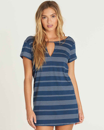 Billabong Move Fast Shirt Dress JD29PBMO-SBN Dress Knee Length (w)