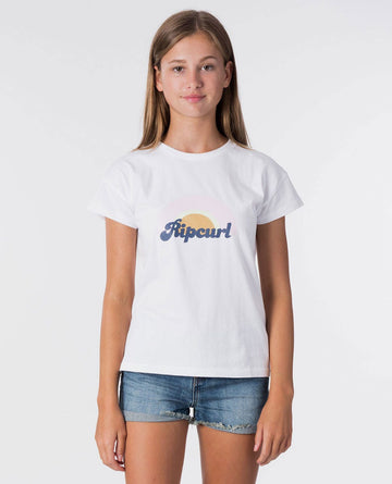 Rip Curl Girl Surf REVIVAL Tee JTEAB9-1000 T-Shirt Short Sleeve Young Girls