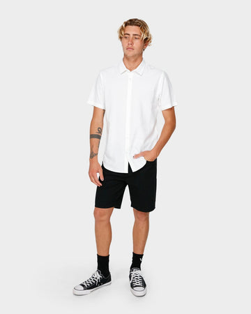 RVCA CRUSHED SS R182191-WHT SHIRT SHORT SLEEVE (M)
