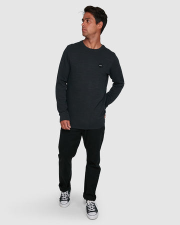RVCA MOTORS THERMAL R305094-BLK POLO T-SHIRT (M)