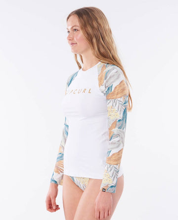 RIP CURL TROPIC SHACK RELAXED WLUYAW-1000 RASH GUARD LONG SLEEVE (W)