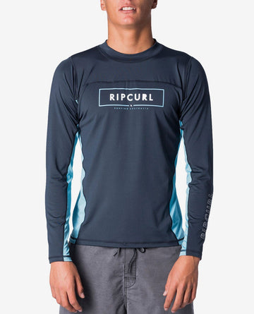 Rip Curl Underline Relaxed LS Uvt WLY7OM-49 Rash Guard Long Sleeve (M)