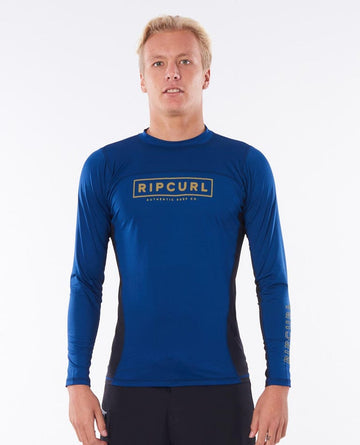 RIP CURL DRIVE RELAXED UVT WLYYOM-0049 RASH GUARD LONG SLEEVE (M)
