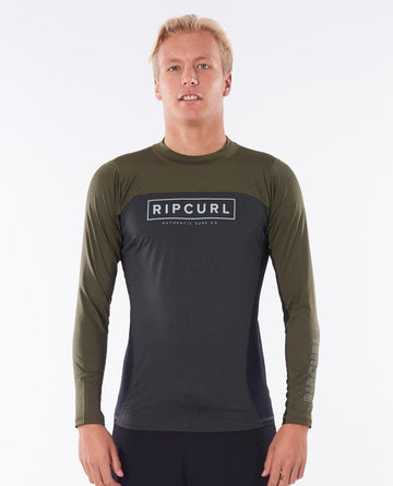 RIP CURL DRIVE RELAXED UVT WLYYOM-0064 RASH GUARD LONG SLEEVE (M)