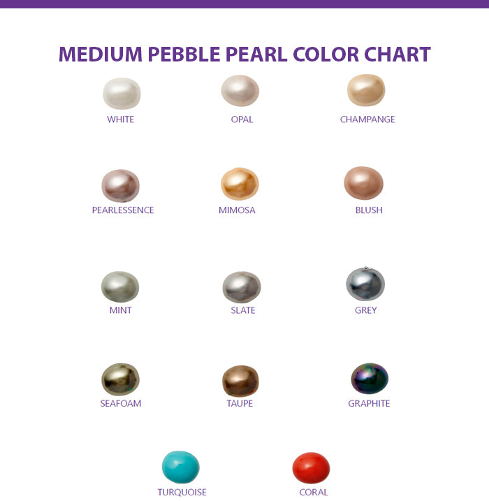 medium pebble pearls color chart