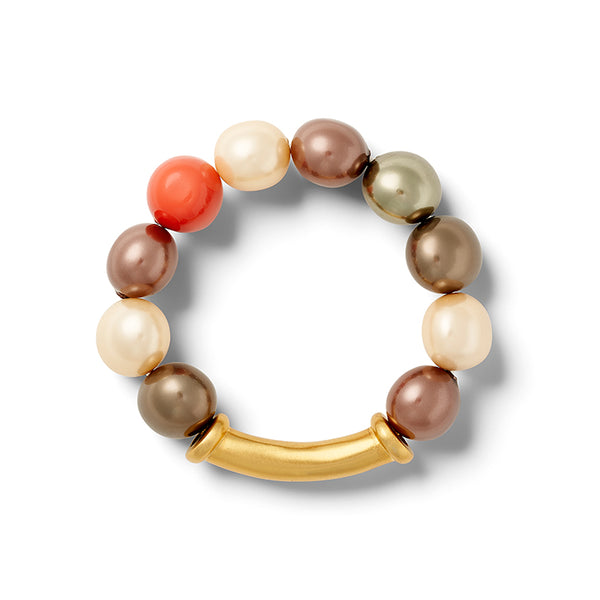 SCRAMBLED PEBBLE PEARL BRACELET