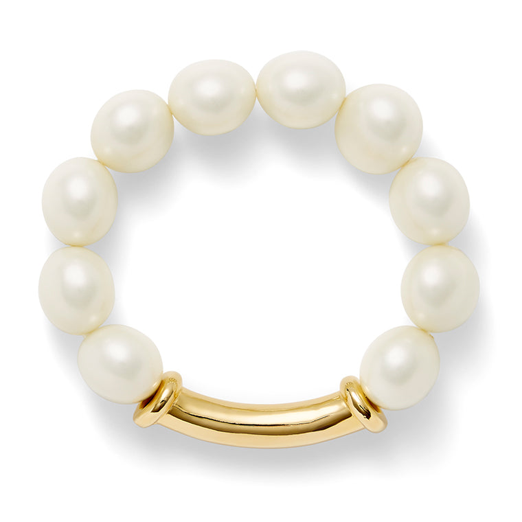 Load image into Gallery viewer, Classic Pebble Pearl Bracelet
