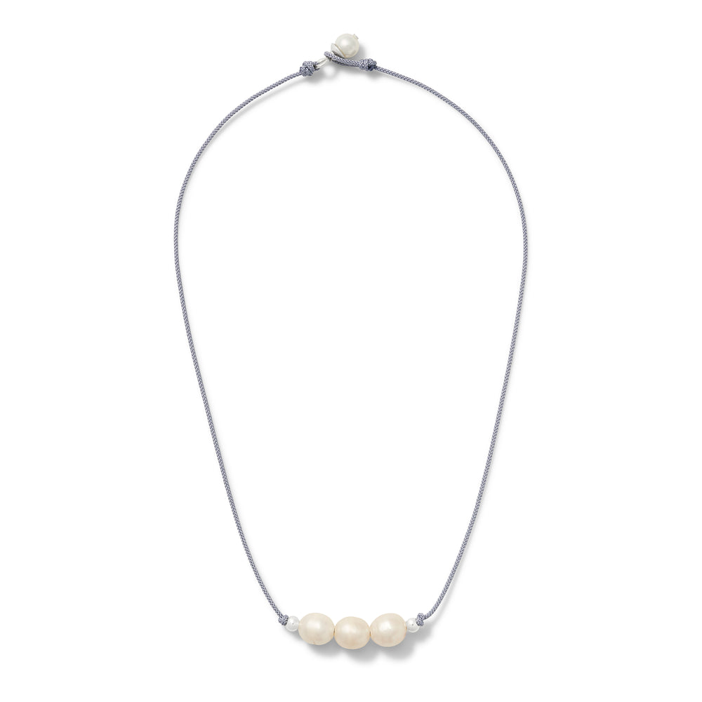 Triple Sterling Julie Pearl Pendant