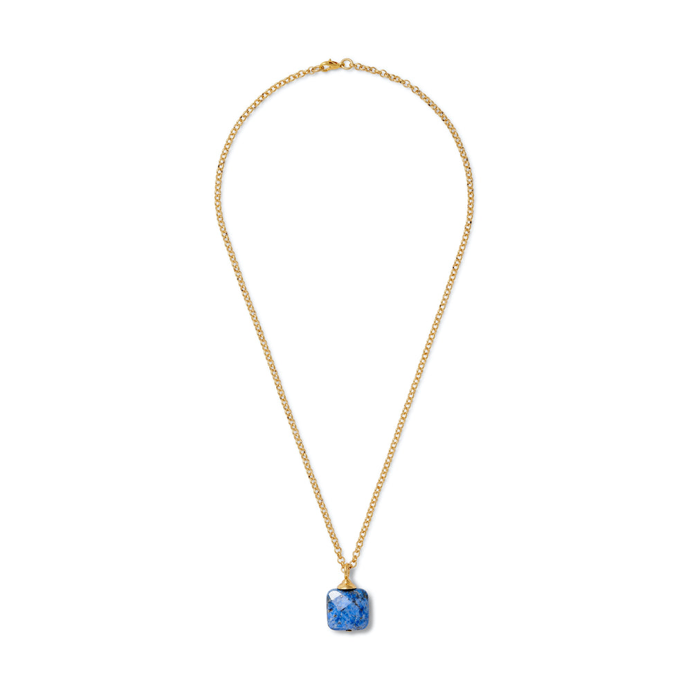 Load image into Gallery viewer, Lapis Chiclet Pendant