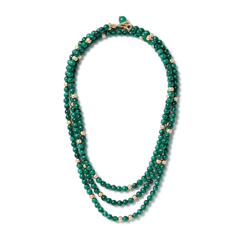 Layered: Malachite + Gold