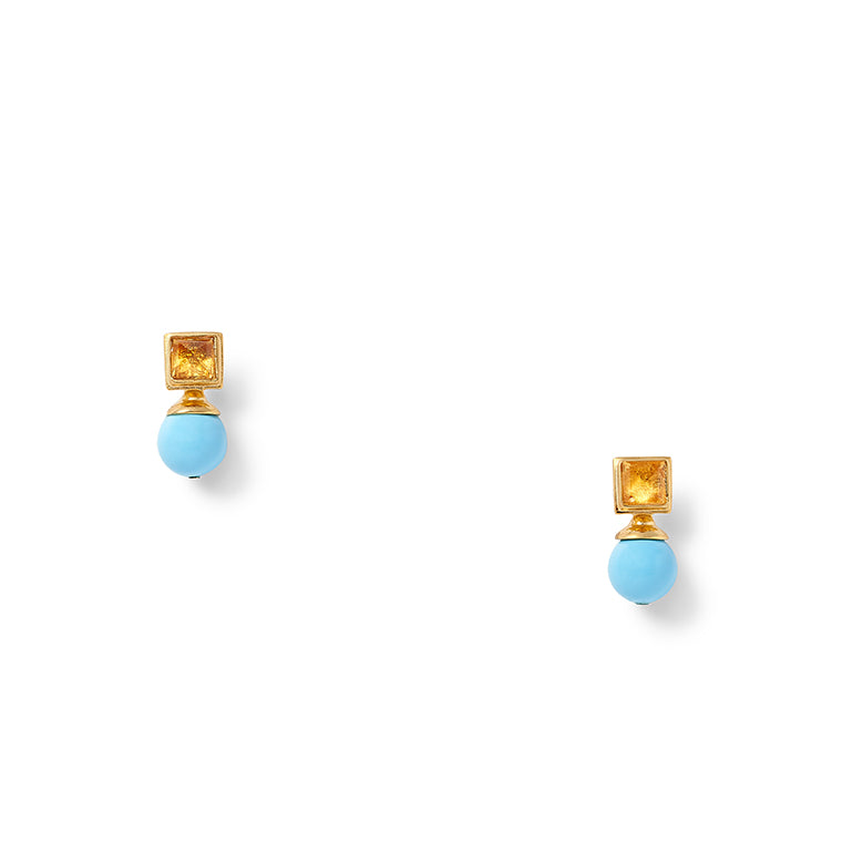 Load image into Gallery viewer, Mrs. Turquoise Earring