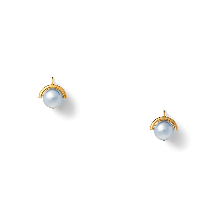 Load image into Gallery viewer, Baby Blue Pearl Sph-Earring