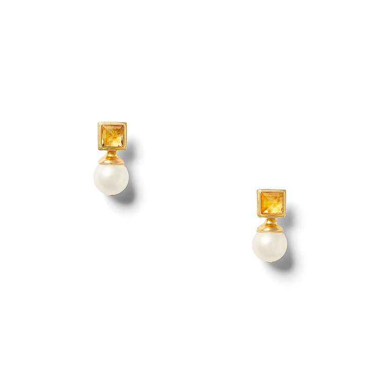 Mrs. Citrine Earring