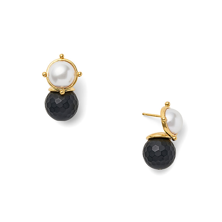 Load image into Gallery viewer, Black + White Lady Earring