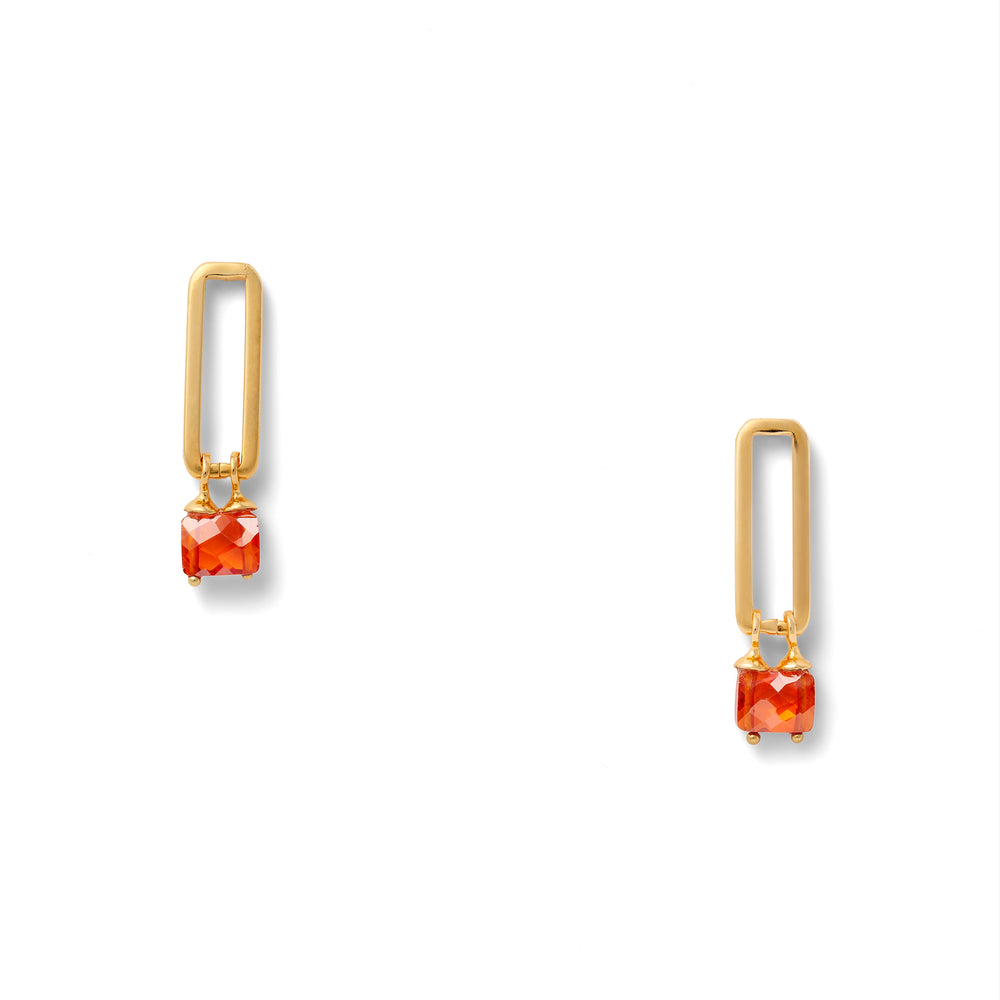 Load image into Gallery viewer, Flame Link Earrings