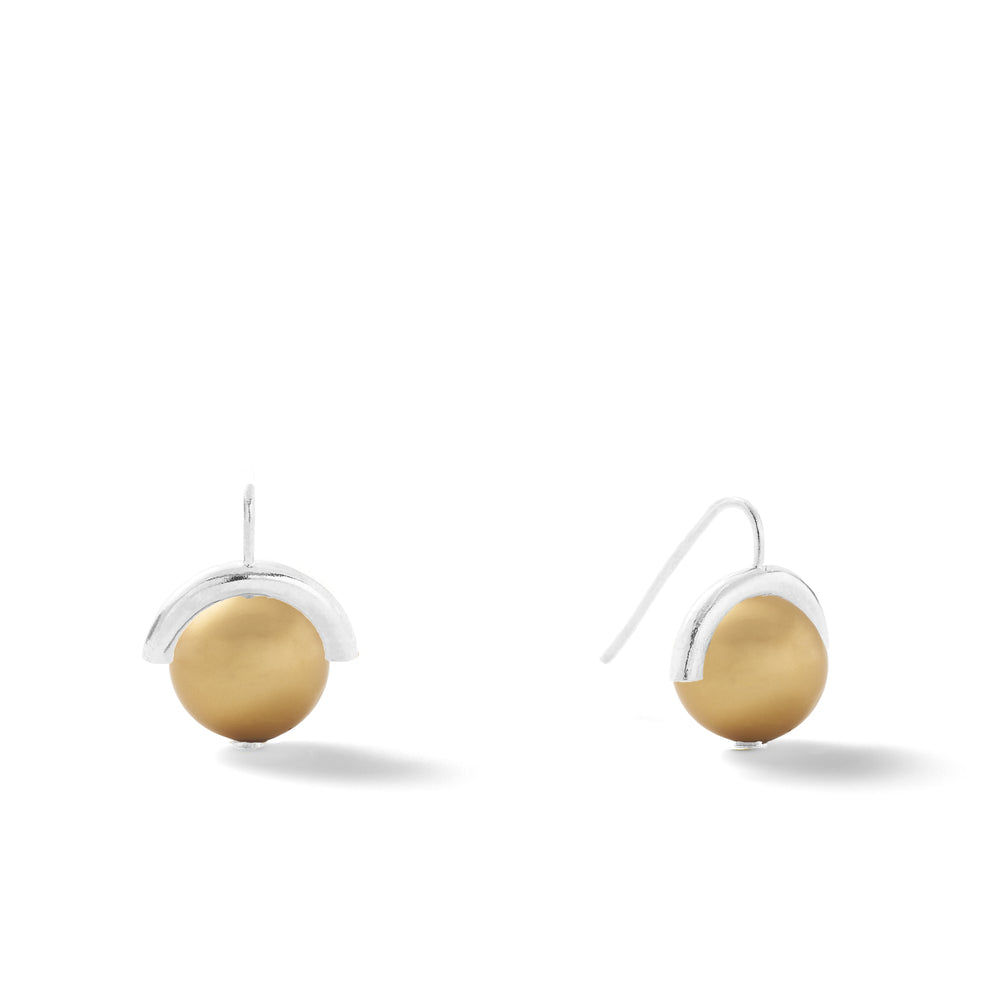 Load image into Gallery viewer, Sterling Large Pearl Sph-Earring