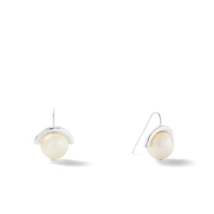 Sterling Medium Pearl Sph-Earring