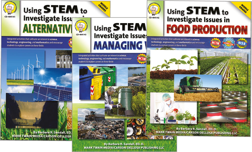 Science, Biology, Physics, Chemistry, Earth Science, Teaching Resources, Book, Bright Education Australia,Using STEM to Investigate Issues in Alternative Energy, Managing Waste, Food Production