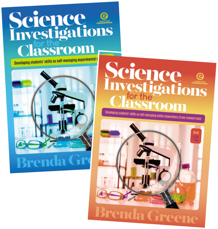 Science Investigations for the Classroom, Science, Biology, Physics, Chemistry, Earth Science, Teaching Resources, Book, Bright Education Australia  Book 1: Developing Students' Skills as Self Managing Experimental Scientists