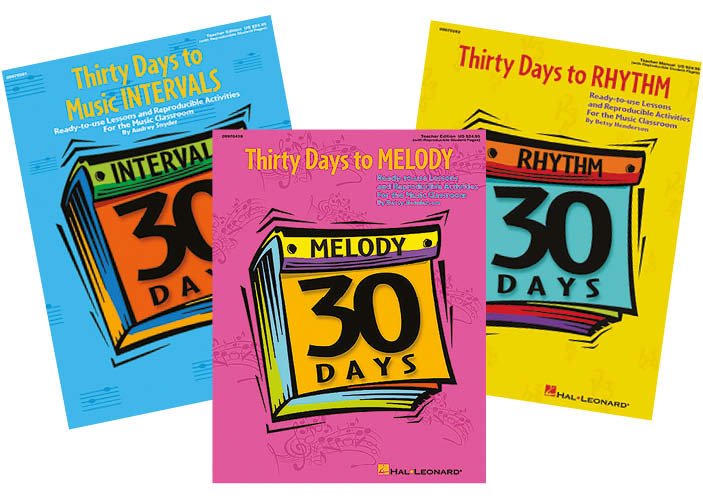 Bright Education Australia, Teacher Resources, Books, Music, 30 Days to Music Intervals, Melody, Rhythm, Product Set, Instrument