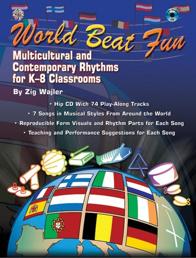 Bright Education Australia, Teacher Resources, Music, Book, World Beat Fun, CD