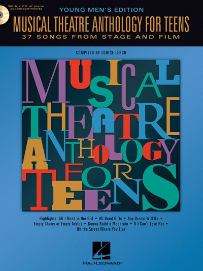 Bright Education Australia, Teacher Resources, Music, Drama, Theatre, Book, CD, Musical Theatre Anthology for Teens: Young Men's Edition