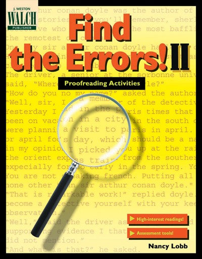 Find the Errors! II Grades 9-12, Bright Education Australia, Book, Grammar, English, School Materials, Games, Puzzles, Activities, Teaching Resources