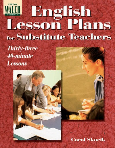 English Lesson Plans for Substitute Teachers, Bright Education Australia, Book, Grammar, English, School Materials, Games, Puzzles, Activities, Teaching Resource