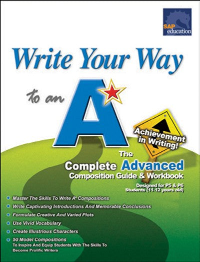 Write Your Way to an 'A' Advanced, Bright Education Australia, Book, Grammar, English, School Materials, Games, Puzzles, Activities, Teaching Resources