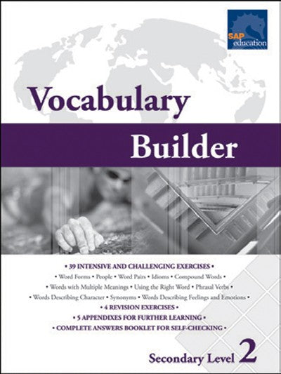 Vocabulary Builder Secondary Level 2, Vocabulary, Bright Education Australia, Book, Grammar, English, School Materials, Games, Puzzles, Activities, Teaching Resources