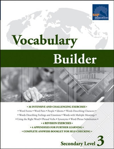 Vocabulary Builder Secondary Level 3, Vocabulary, Bright Education Australia, Book, Grammar, English, School Materials, Games, Puzzles, Activities, Teaching Resources