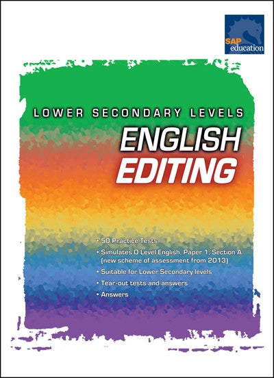 English Editing: Lower Secondary Level, Exams, Tests, Bright Education Australia, Book, Grammar, English, School Materials, Games, Puzzles, Activities, Teaching Resources