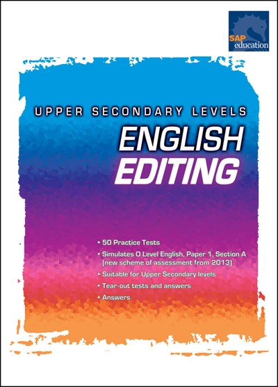 English Editing: Upper Secondary Level, Exams, Tests, Bright Education Australia, Book, Grammar, English, School Materials, Games, Puzzles, Activities, Teaching Resources
