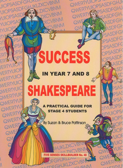 Success in Year 7 & 8 Shakespeare, Bright Education Australia, Book, Shakespeare, English, School Materials, Activities, Teaching Resources