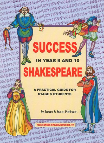 Success in Year 9 & 10 Shakespeare, Bright Education Australia, Book, Shakespeare, English, School Materials, Activities, Teaching Resources