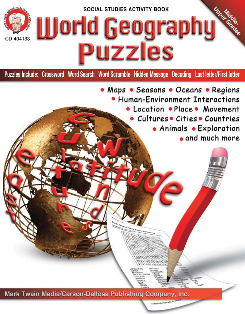 Bright Education Australia, Teacher Resources, Book, Geography, Climate, Earth Science, World Geography Puzzles