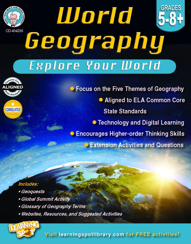 Bright Education Australia, Teacher Resources, Book, Geography, Climate, Earth Science, World Geography: Explore Your World