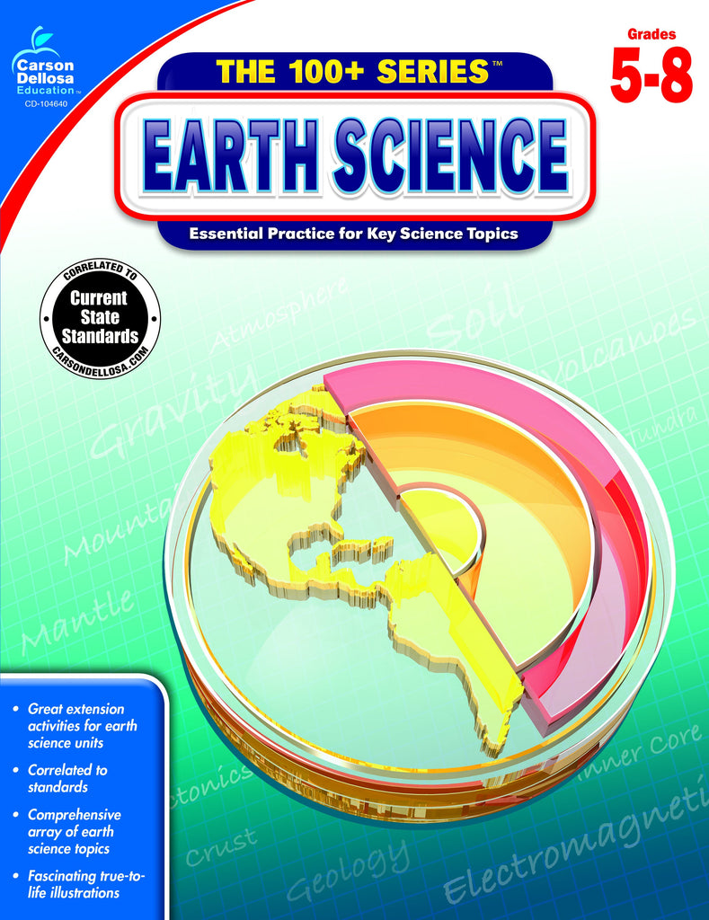 The 100+ Series Earth Science, Science, Biology, Physics, Chemistry, Earth Science, Teaching Resources, Book, Bright Education Australia