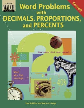 Bright Education Australia, Teacher Resources, Maths, Books, Word Problems with Decimals, Proportions & Percents