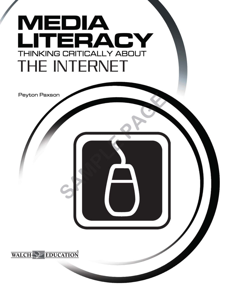 Bright Education Australia, Teacher Resources, Book, Media Literacy, Media Literacy: The Internet