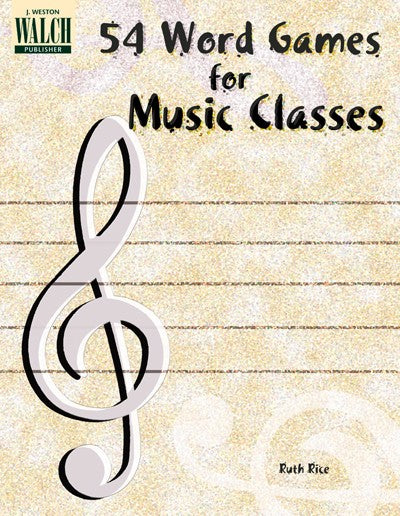 Bright Education Australia, Teacher Resources, Music, Book, 54 Word Games for Musical Classes